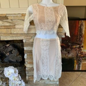 NWOT • Rehab • Two Piece Lace Skirt Set